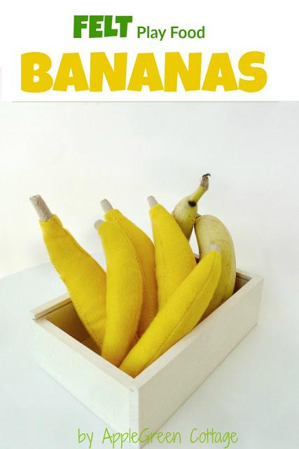 felt banana sewing pattern and instructions