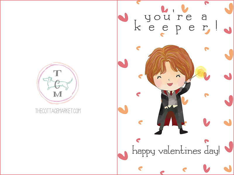adorable free harry potter printable valentines