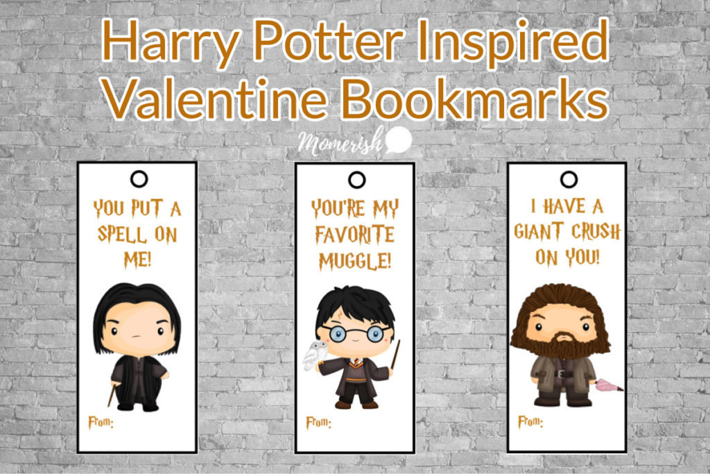 image relating to Harry Potter Printable Bookmarks identify 12 Magical Harry Potter Themed Valentines Working day Playing cards Random