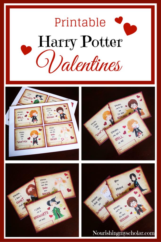 free harry potter printable valentines