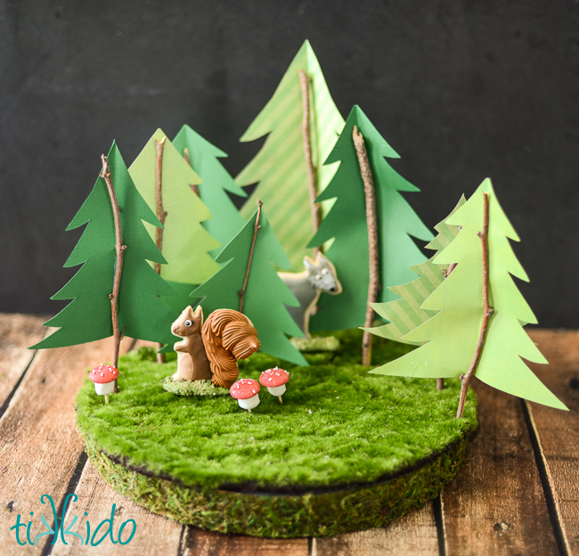Rustic woodland paper tree cake topper tutorial