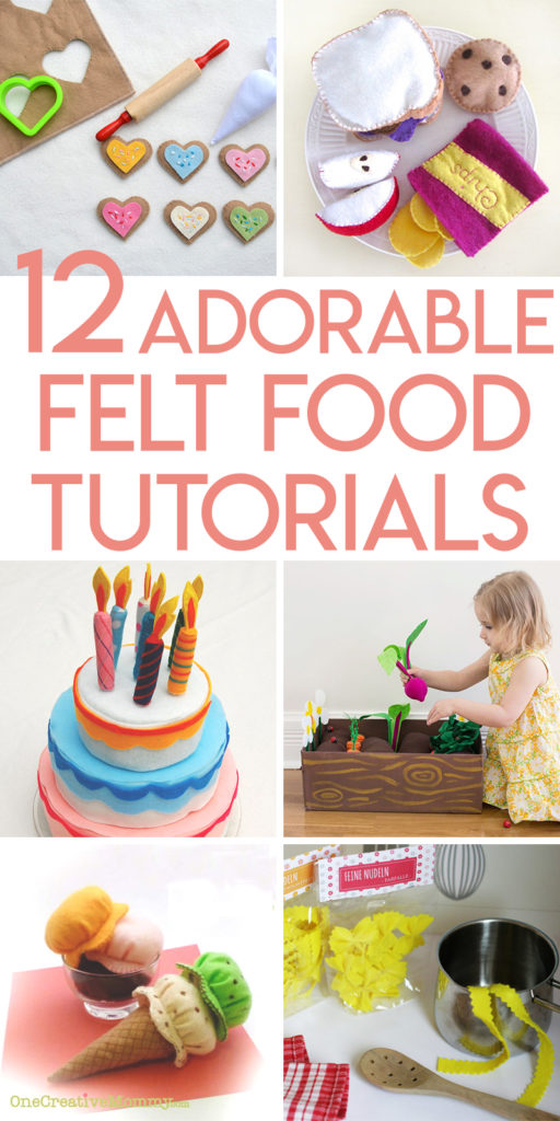 12 adorable felt play food projects to make to encourage creative play