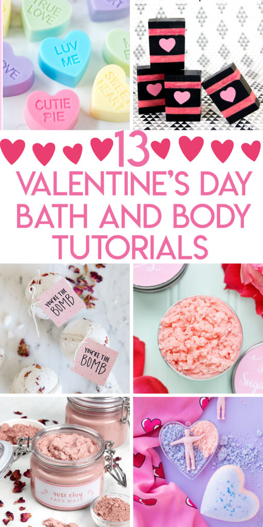 13 Valentine's day Bath and Body tutorials