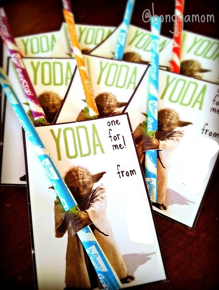 Free printable yoda holding candy valentines