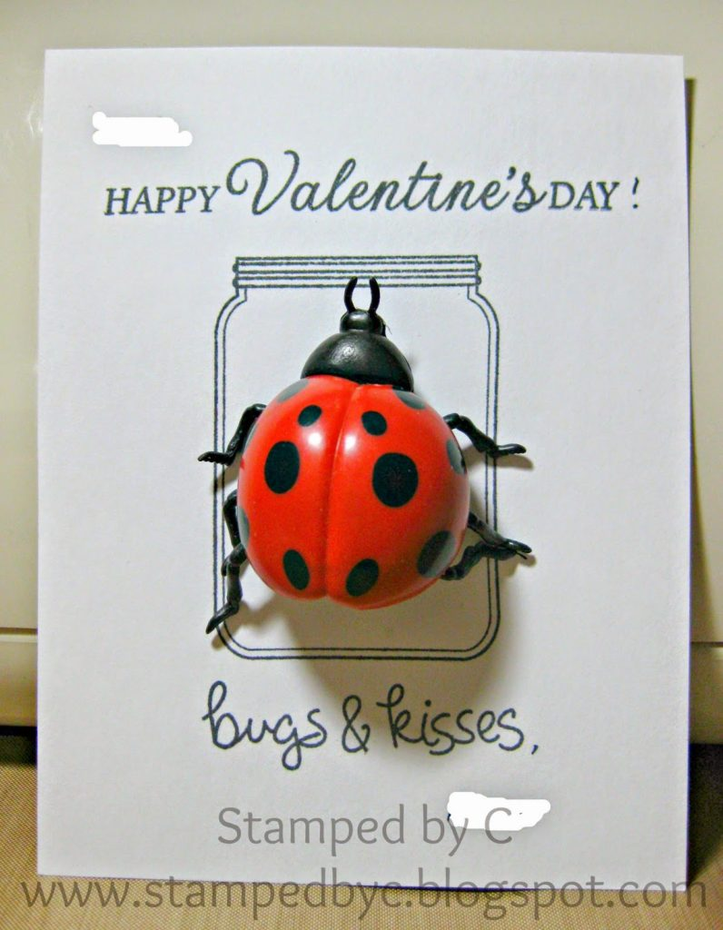 Bugs and Kisses love bug Valentine's day card
