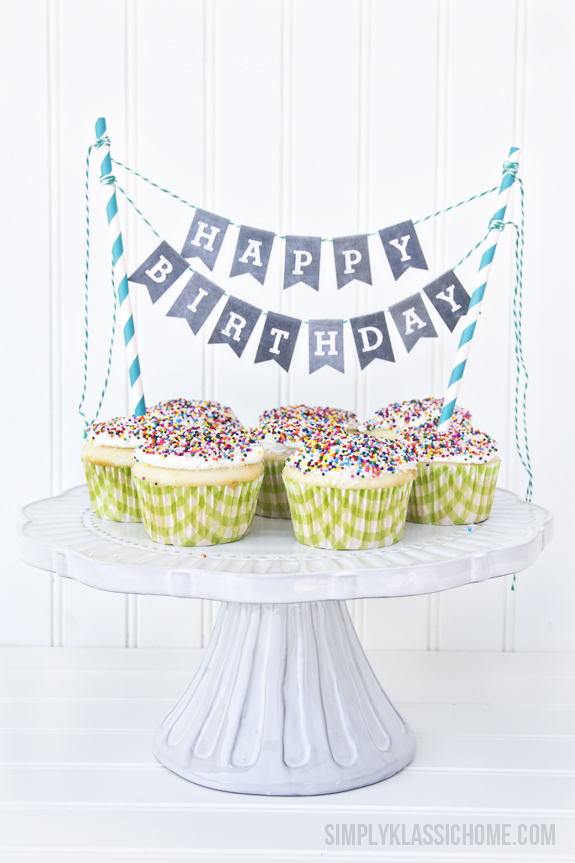 13 Clever Cake And Cupcake Buntings And Toppers Random Acts Of Crafts