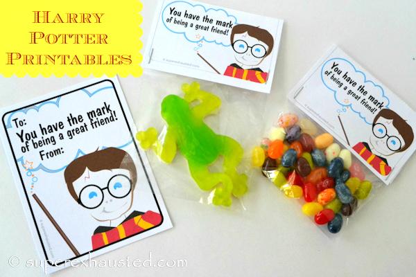 Harry potter favor or valentine printable