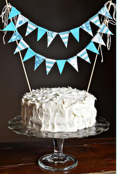 how to make fabric cake bunting