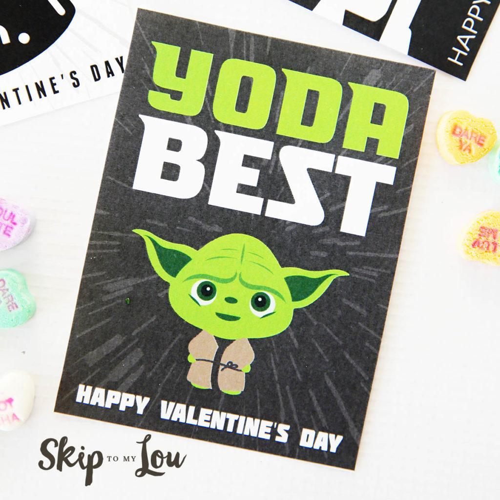 Yoda Best free printable Star Wars valentines