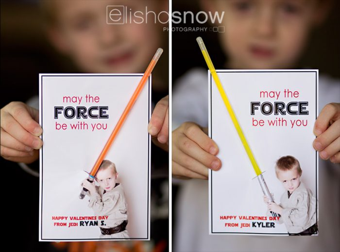 photo jedi Star wars valentine idea