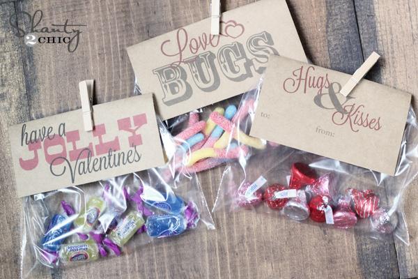 Love bug treat bag printable