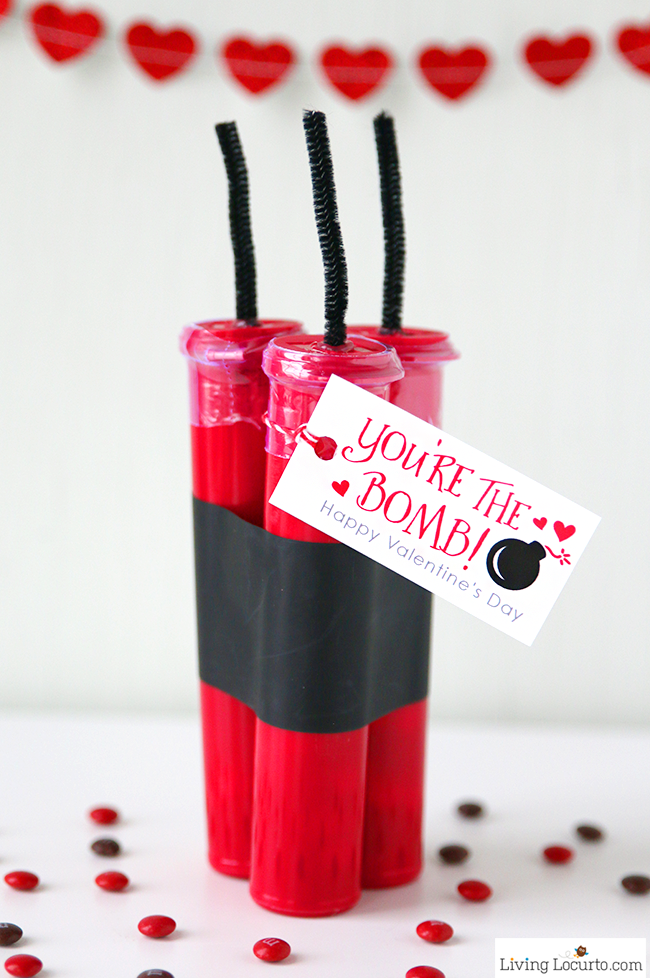 You're the Bomb chocolate valentine's day treat craft tutorial