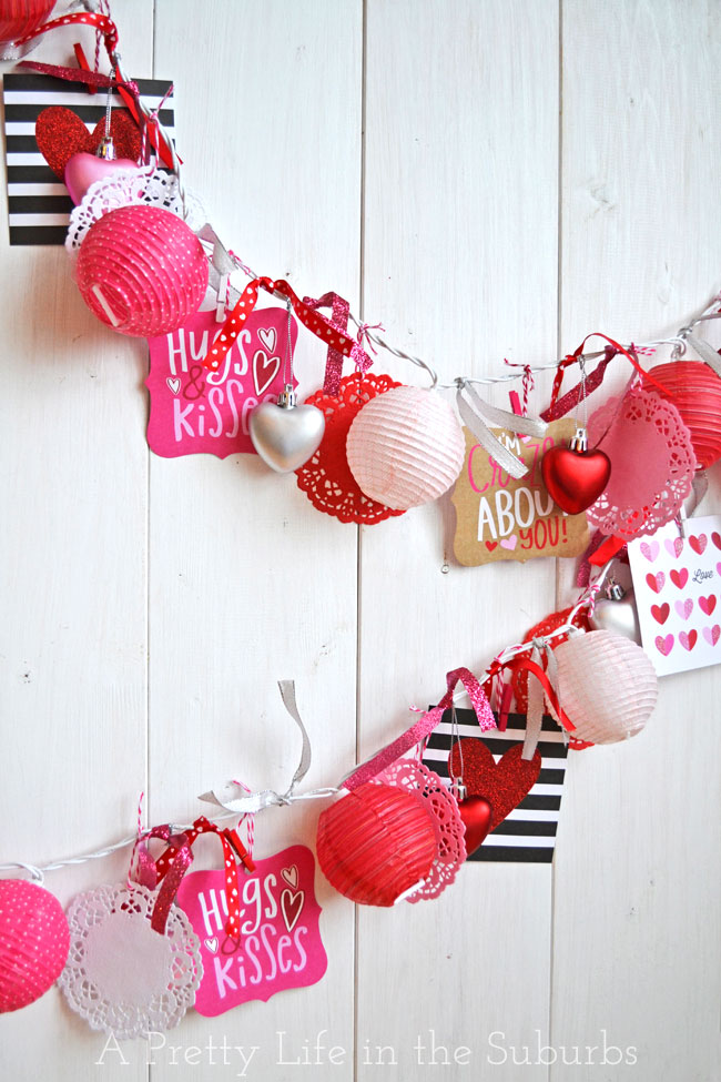 eclectic valentine's day light garland tutorial