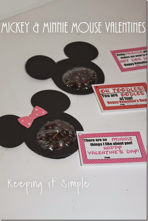 Mickey and Minnie valentine's day tutorial
