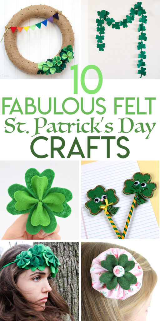 10 fabulous felt st. patrick's day crafts