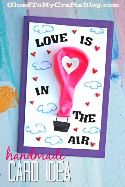 balloon valentine's day printable card