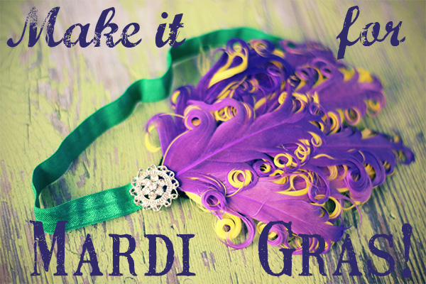 mardi gras headband tutorial