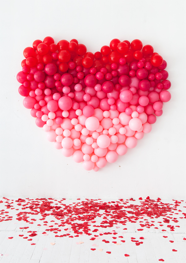 giant ombre valentine's day balloon heart tutorial