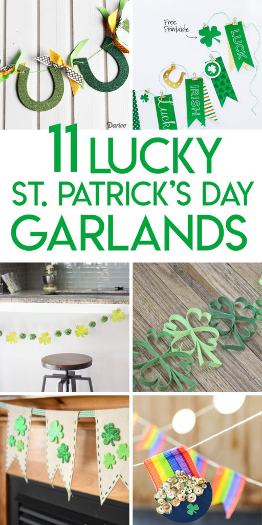 11 Lucky St. Patrick's Day Garland Tutorials